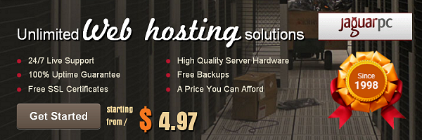 JaguarPC Shared Website Hosting